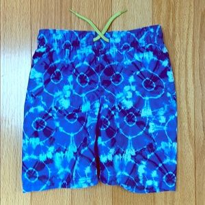 Blue tie die swim trunks 4t. Old navy